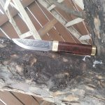 Damascus Knife with Leaf Pattern
