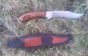 Knife with Frogskin Sheath