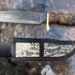 Knife with Snakeskin Sheath