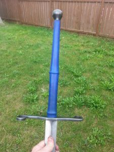 the Haidner- 52in blade 40in blued guard and pommel B